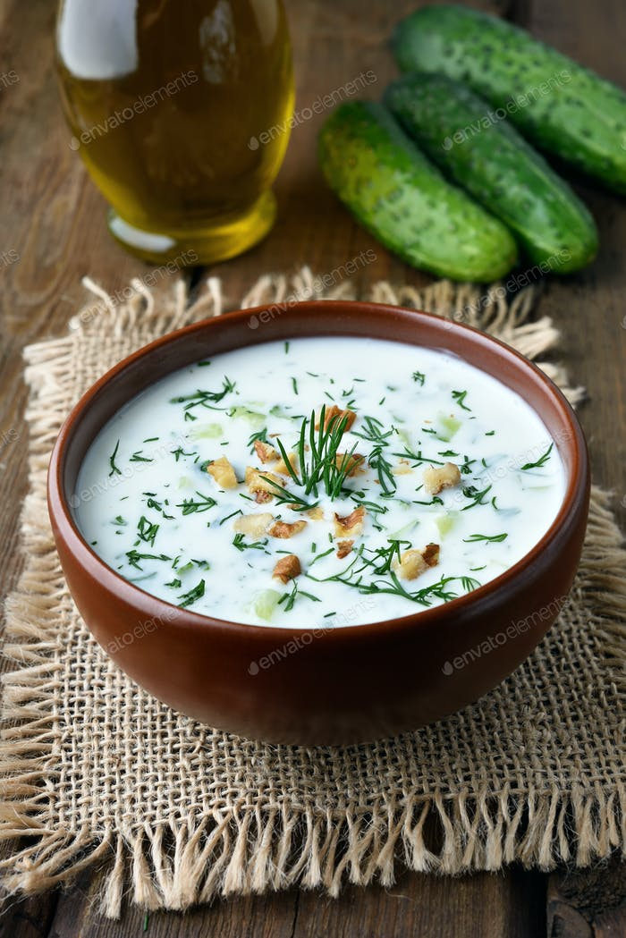 Yoghurt cold soup
