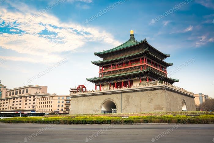 ancient city xian bell tower