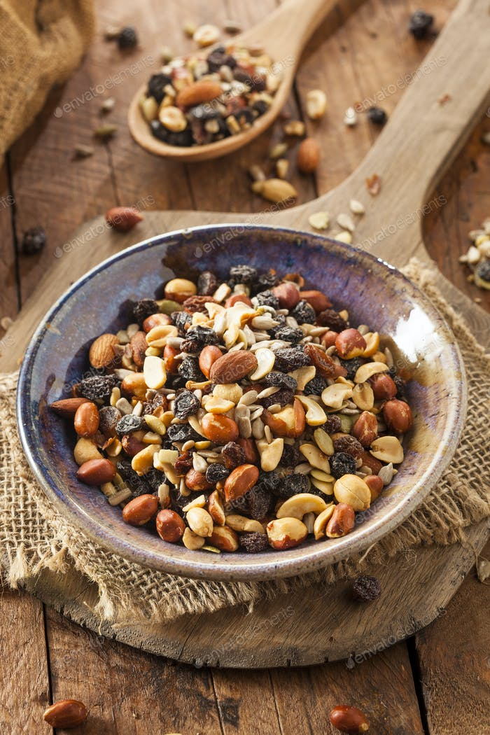 Raw Organic Homemade Trail Mix