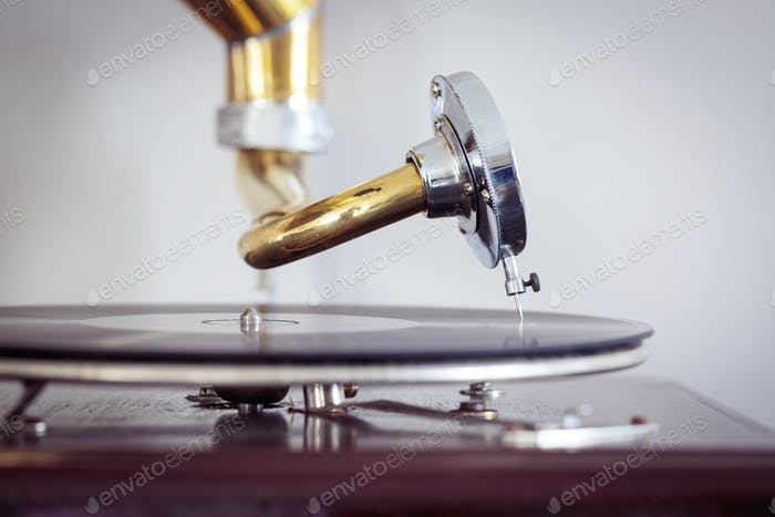 Turntable needle from a phonograph