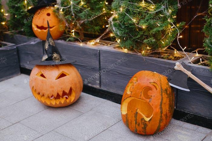 Halloween street decor
