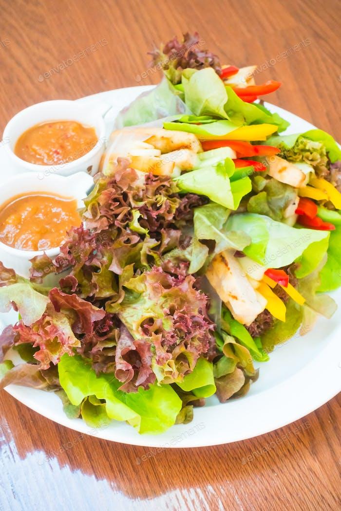 Vietnamese Meatball Wraps