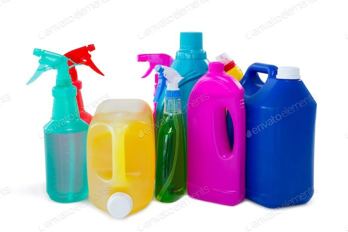 Reinigungsflüssigkeit in Flaschen