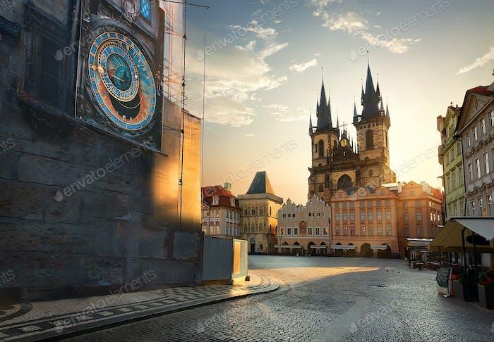 View on Prague chimes