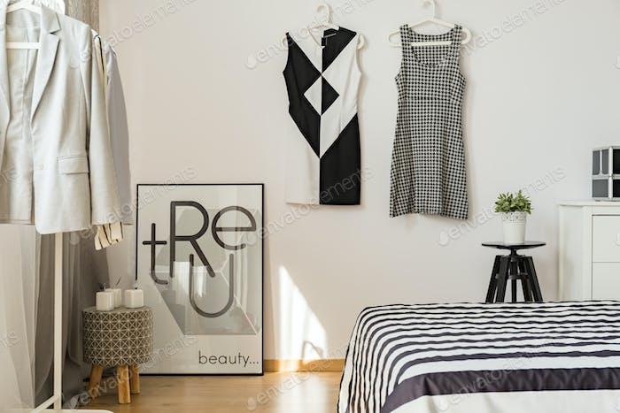 Stylish cozy bedroom