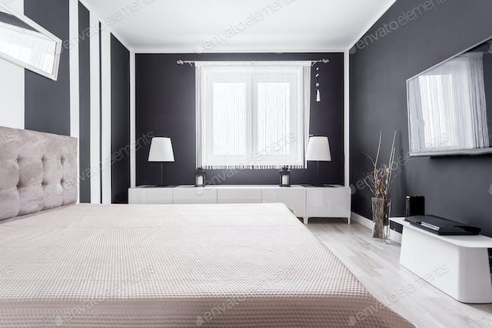 Relax zone in modern bedroom