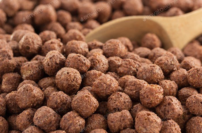 cereal chocolate balls as background