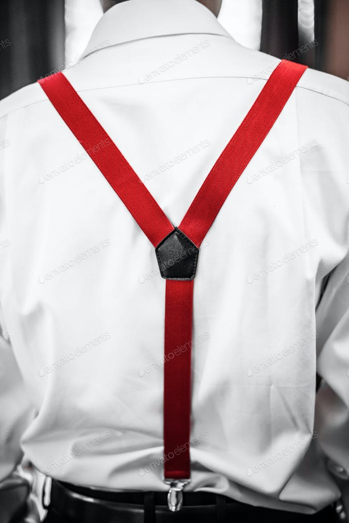 Red  Suspenders Detail