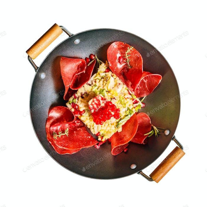 Flache Laien von Couscous Salat