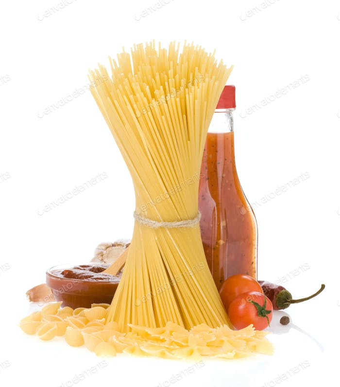 Thumbnail for raw pasta and food ingredient