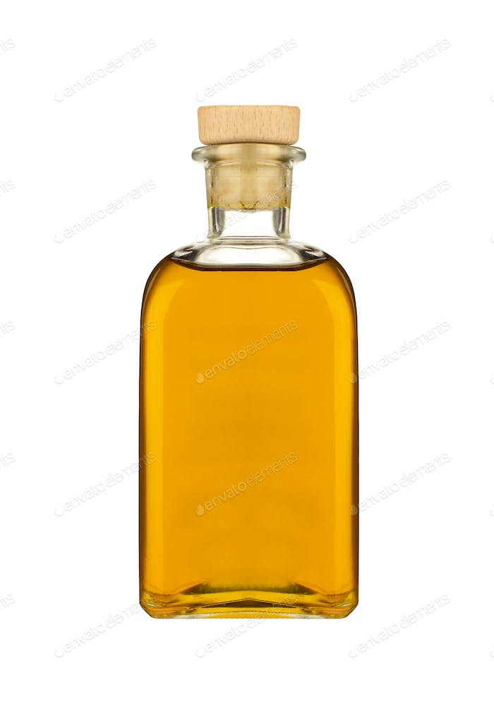 olive oil isolated on white