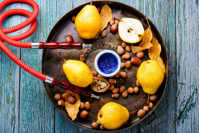 Turkish hookah with aroma pear