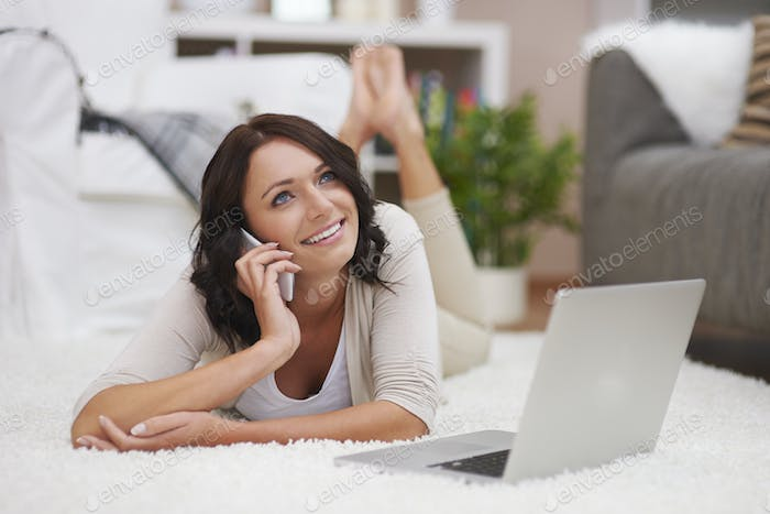 Beautiful woman enjoying of contemporary technology