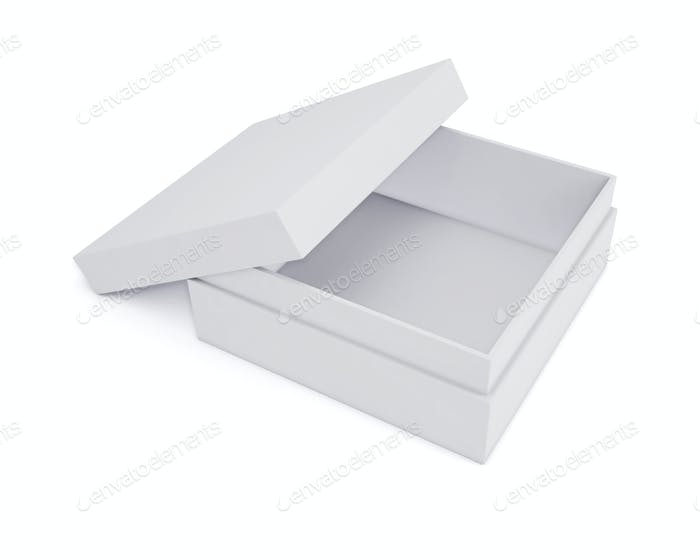 Mockup white boxes for your design. Isolated on a white backgrou