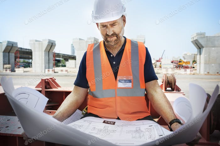Thumbnail for Construction Worker Planning Constractor Developer Concept