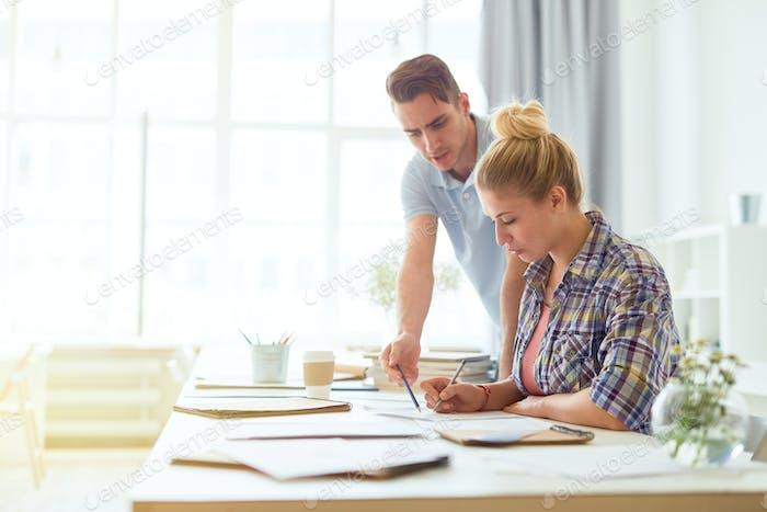 Financiers at work