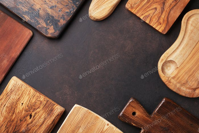 Various cutting boards