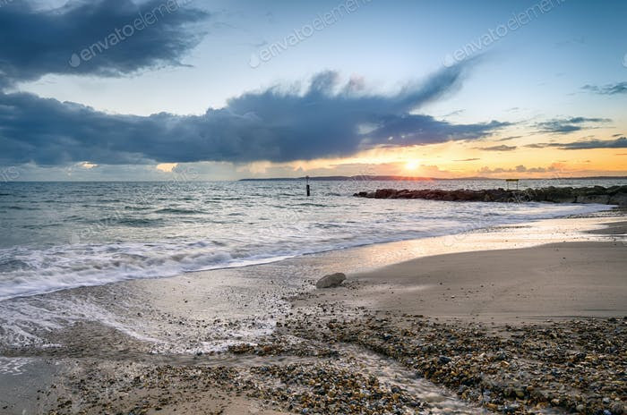 Solent Beach Sunset