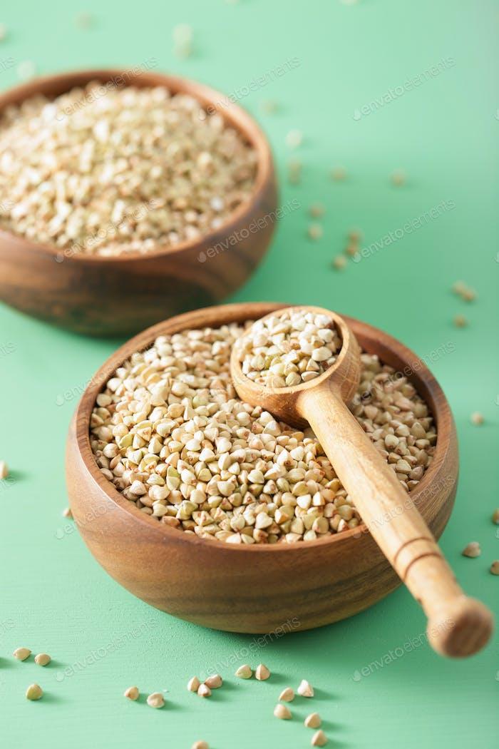 raw green buckwheat healthy ingredient