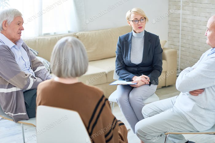 Therapy Circle in Retirement Home