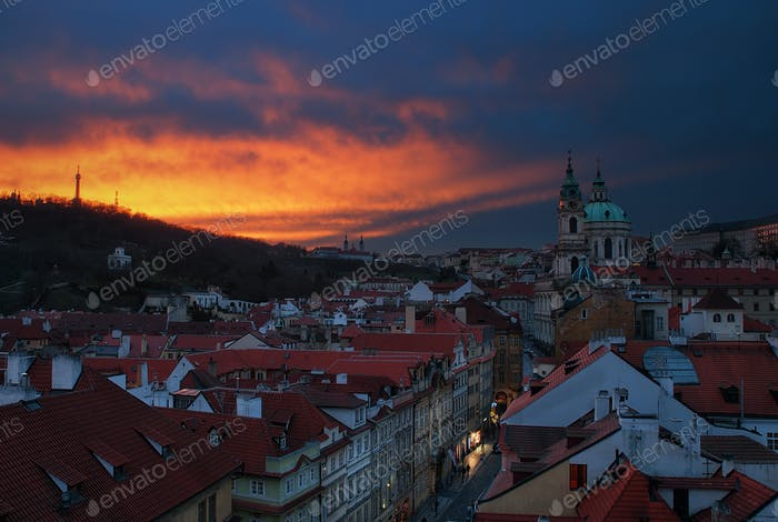 St Nicholas Church, Prague, Czech republic.