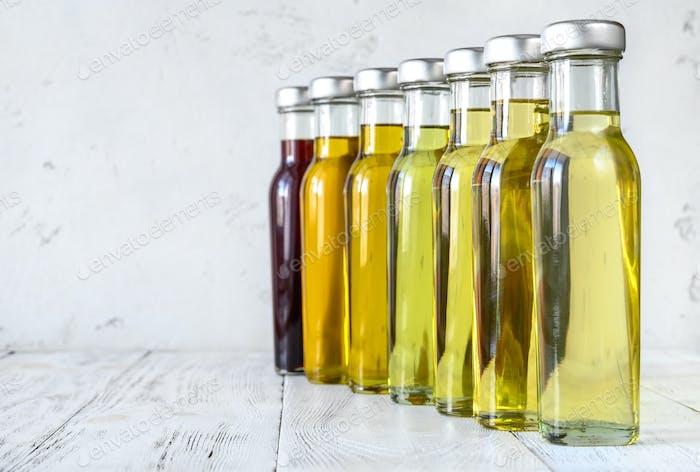 Assortment of vegetable oils