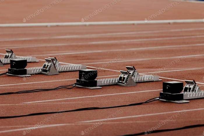 starting blocks with false start system