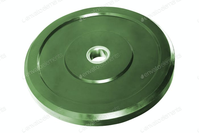 metal disk for dumbbells isolated