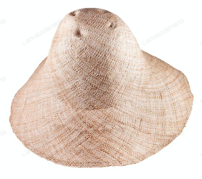 einfache ländliche Stroh breite Krempe Hut