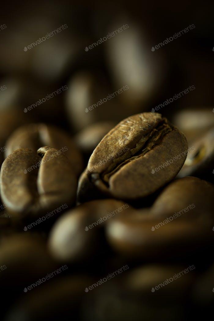 Granos de café macro
