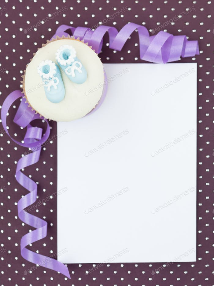 muffin newborn invitation