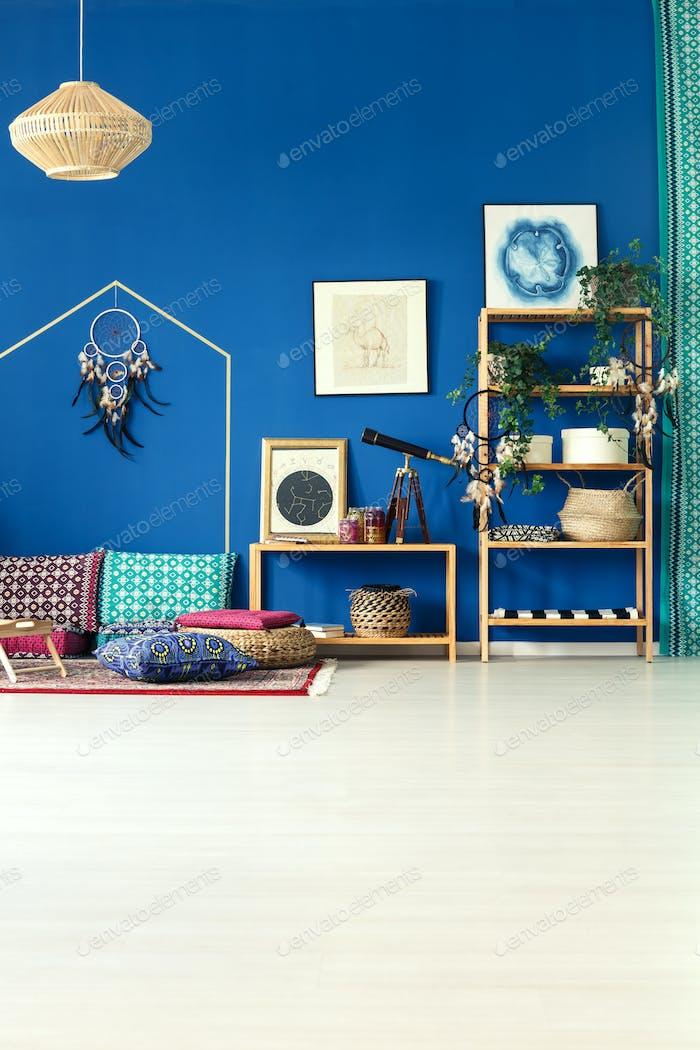 Cobalt blue home interior