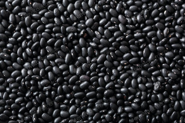 black turtle beans legumes background