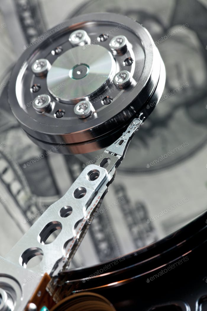 hard disk with us dollar