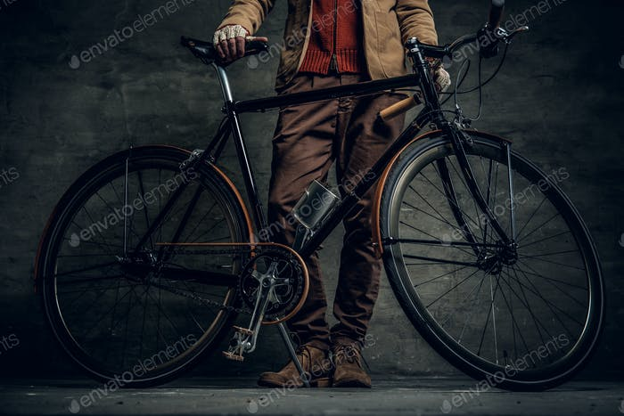 Single speed hipster's bicycle.