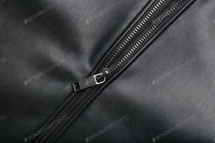 Zip on leather