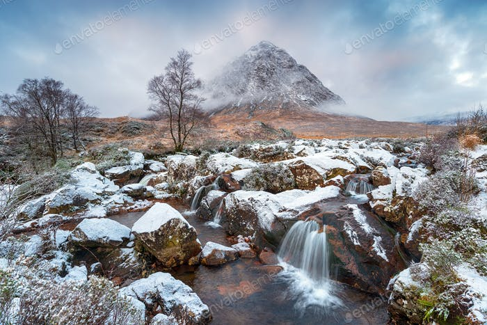 Waterfalls at Buachaille Etive