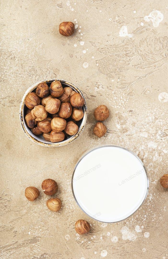 Vegan Hazelnut nut milk