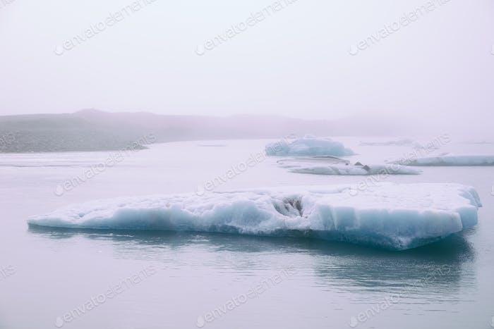 Isländische Gletscherlagune