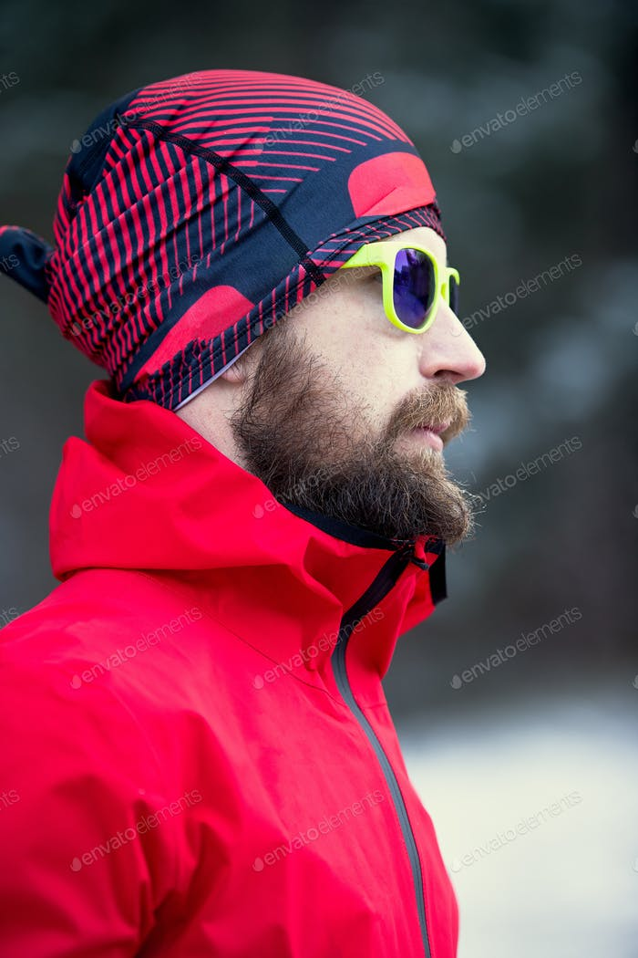 Young man with sporty beard