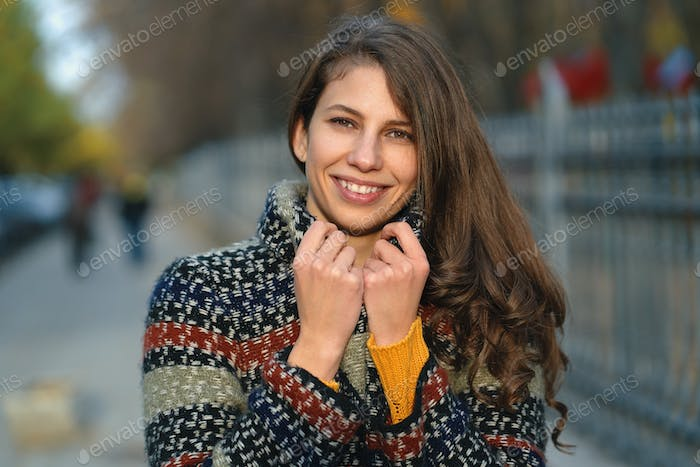 Smiling girl portrait