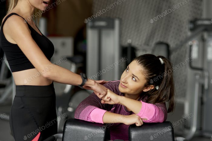 Big support from the personal trainer
