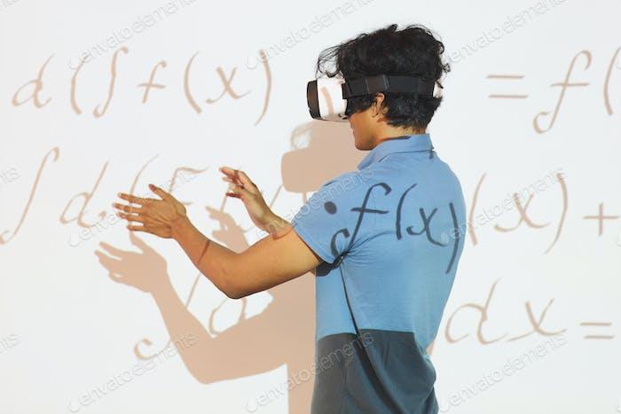 Analysieren von mathematischen Berechnungen im VR-Gerät