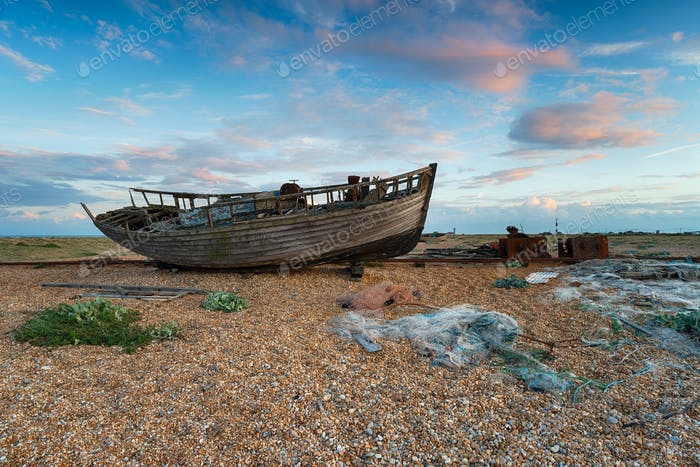 Boot bei Dungeness in Kent