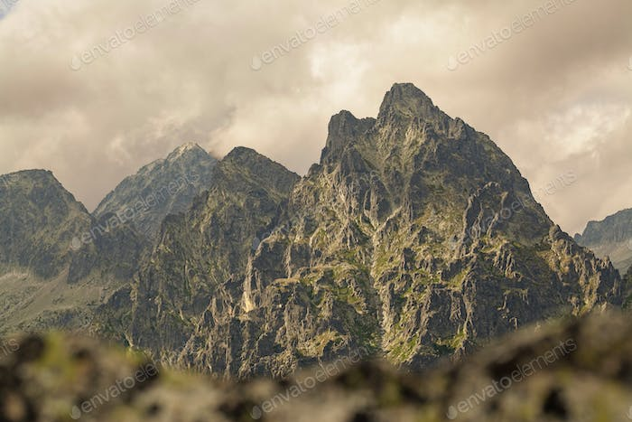 View on high Tatra Mountains