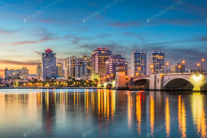 West Palm Beach Florida Skyline