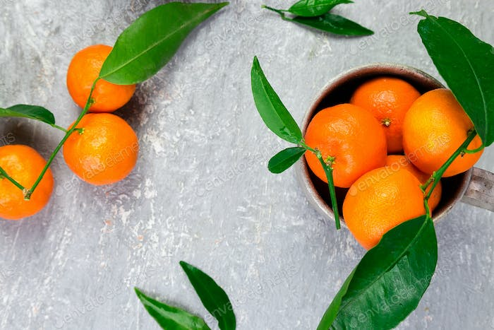 Tangerines background. Delicious and beautiful Citrus.