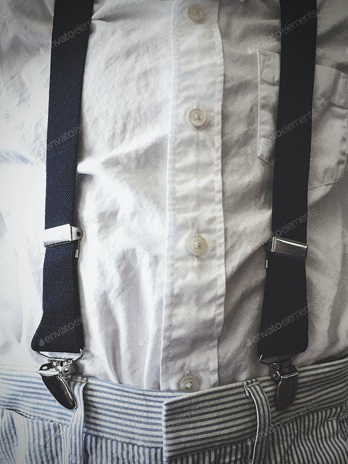Child in Suspenders