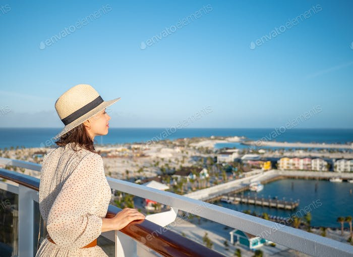 Young girl looking at the view