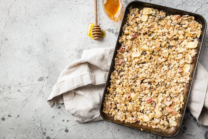Homemade Granola with honey